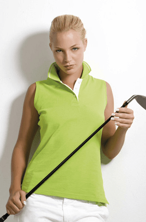 Dames Polo Kustom Kit Women's Proactive Sleeveless KK730